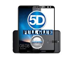 Apsauga ekranui gaubtas grūdintas stiklas Huawei Mate 10 Lite mobiliesiems telefonams juodos spalvos 5D pilnas padengimas klijais