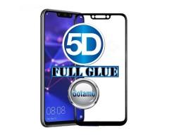 Apsauga ekranui gaubtas grūdintas stiklas Huawei Mate 20 Lite mobiliesiems telefonams juodos spalvos 5D pilnas padengimas klijais