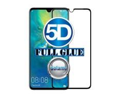 Apsauga ekranui gaubtas grūdintas stiklas Huawei Mate 20 mobiliesiems telefonams juodos spalvos 5D pilnas padengimas klijais