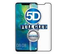 Apsauga ekranui gaubtas grūdintas stiklas Huawei Mate 20 Pro mobiliesiems telefonams juodos spalvos 5D pilnas padengimas klijais