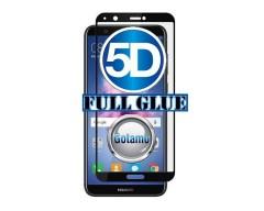 Apsauga ekranui gaubtas grūdintas stiklas Huawei P Smart mobiliesiems telefonams juodos spalvos 5D pilnas padengimas klijais