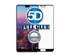 Apsauga ekranui gaubtas grūdintas stiklas Huawei P20 mobiliesiems telefonams juodos spalvos 5D pilnas padengimas klijais