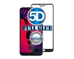 Apsauga ekranui gaubtas grūdintas stiklas Huawei P20 Pro mobiliesiems telefonams juodos spalvos 5D pilnas padengimas klijais