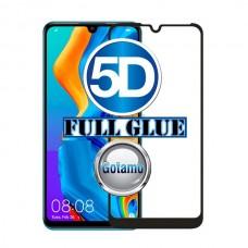 Apsauga ekranui gaubtas grūdintas stiklas Huawei P30 Lite mobiliesiems telefonams juodos spalvos 5D pilnas padengimas klijais