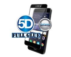 Apsauga ekranui gaubtas grūdintas stiklas Huawei P9 Lite (2017) mobiliesiems telefonams juodos spalvos 5D pilnas padengimas klijais