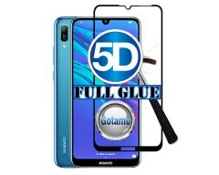 Apsauga ekranui gaubtas grūdintas stiklas Huawei Y6 (2019) Huawei Honor 8A mobiliesiems telefonams juodos spalvos 5D pilnas padengimas klijais