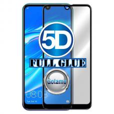 Apsauga ekranui gaubtas grūdintas stiklas Huawei Y7 (2019) mobiliesiems telefonams juodos spalvos 5D pilnas padengimas klijais Kaunas | Vilnius | Klaipėda