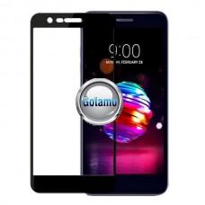 Apsauga ekranui gaubtas grūdintas stiklas LG K11 mobiliesiems telefonams juodos spalvos Vilnius | Kaunas | Klaipėda