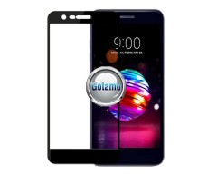 Apsauga ekranui gaubtas grūdintas stiklas LG K11 mobiliesiems telefonams juodos spalvos