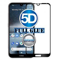 Apsauga ekranui gaubtas grūdintas stiklas Nokia 2.2 mobiliesiems telefonams juodos spalvos 5D pilnas padengimas klijais Šiauliai | Klaipėda | Kaunas