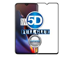 Apsauga ekranui gaubtas grūdintas stiklas OnePlus 7 mobiliesiems telefonams juodas 5D pilnas padengimas klijais
