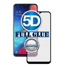 Apsauga ekranui gaubtas grūdintas stiklas Samsung Galaxy A20e mobiliesiems telefonams juodos spalvos 5D pilnas padengimas klijais
