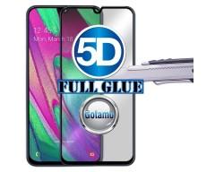 Apsauga ekranui gaubtas grūdintas stiklas Samsung Galaxy A40 mobiliesiems telefonams juodos spalvos 5D pilnas padengimas klijais
