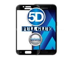 Apsauga ekranui gaubtas grūdintas stiklas Samsung Galaxy A5 (2017) mobiliesiems telefonams juodos spalvos 5D pilnas padengimas klijais