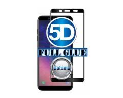 Apsauga ekranui gaubtas grūdintas stiklas Samsung Galaxy A6+ (2018) mobiliesiems telefonams juodos spalvos 5D pilnas padengimas klijais