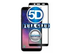 Apsauga ekranui gaubtas grūdintas stiklas Samsung Galaxy A6 (2018) mobiliesiems telefonams juodos spalvos 5D pilnas padengimas klijais