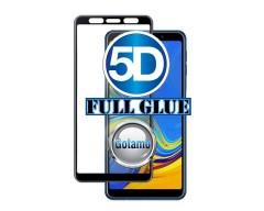 Apsauga ekranui gaubtas grūdintas stiklas Samsung Galaxy A7 (2018) mobiliesiems telefonams juodos spalvos 5D pilnas padengimas klijais