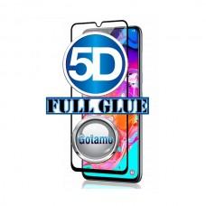 Apsauga ekranui gaubtas grūdintas stiklas Samsung Galaxy A70 mobiliesiems telefonams juodos spalvos 5D pilnas padengimas klijais