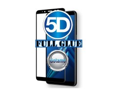 Apsauga ekranui gaubtas grūdintas stiklas Samsung Galaxy A8 (2018) mobiliesiems telefonams juodos spalvos 5D pilnas padengimas klijais