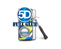 Apsauga ekranui gaubtas grūdintas stiklas Samsung Galaxy A80 mobiliesiems telefonams juodos spalvos 5D pilnas padengimas klijais
