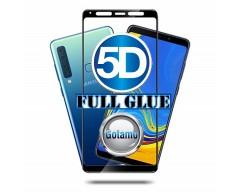 Apsauga ekranui gaubtas grūdintas stiklas Samsung Galaxy A9 (2018) mobiliesiems telefonams juodos spalvos 5D pilnas padengimas klijais