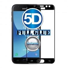 Apsauga ekranui gaubtas grūdintas stiklas Samsung Galaxy J3 (2017) mobiliesiems telefonams juodos spalvos pilnas padengimas klijais Palanga | Telšiai | Telšiai
