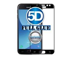 Apsauga ekranui gaubtas grūdintas stiklas Samsung Galaxy J3 (2017) mobiliesiems telefonams juodos spalvos pilnas padengimas klijais
