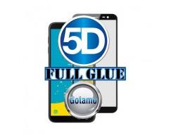 Apsauga ekranui gaubtas grūdintas stiklas Samsung Galaxy J4+ (2018) mobiliesiems telefonams juodos spalvos 5D pilnas padengimas klijais