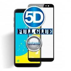 Apsauga ekranui gaubtas grūdintas stiklas Samsung Galaxy J6+ (2018) mobiliesiems telefonams juodos spalvos 5D pilnas padengimas klijais
