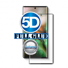 Apsauga ekranui gaubtas grūdintas stiklas Samsung Galaxy Note 10+ mobiliesiems telefonams juodos spalvos 5D pilnas padengimas klijais Telšiai | Kaunas | Šiauliai