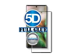 Apsauga ekranui gaubtas grūdintas stiklas Samsung Galaxy Note 10+ mobiliesiems telefonams juodos spalvos 5D pilnas padengimas klijais