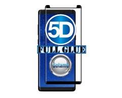 Apsauga ekranui gaubtas grūdintas stiklas Samsung Galaxy Note 8 mobiliesiems telefonams juodos spalvos 5D pilnas padengimas klijais