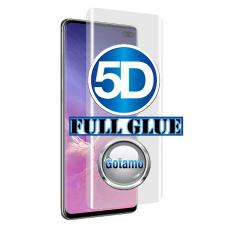 Apsauga ekranui gaubtas grūdintas stiklas Samsung Galaxy S10+ mobiliesiems telefonams juodos spalvos 5D pilnas padengimas klijais Klaipėda | Plungė | Klaipėda