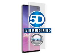 Apsauga ekranui gaubtas grūdintas stiklas Samsung Galaxy S10+ mobiliesiems telefonams juodos spalvos 5D pilnas padengimas klijais