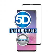 Apsauga ekranui gaubtas grūdintas stiklas Samsung Galaxy S10 mobiliesiems telefonams juodos spalvos 5D pilnas padengimas klijais Plungė | Kaunas | Vilnius