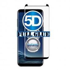 Apsauga ekranui gaubtas grūdintas stiklas Samsung Galaxy S8+ mobiliesiems telefonams siauresnis juodos spalvos pilnas padengimas klijais