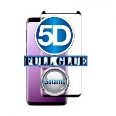 Apsauga ekranui gaubtas grūdintas stiklas Samsung Galaxy S9+ mobiliesiems telefonams juodos spalvos 5D pilnas padengimas klijais