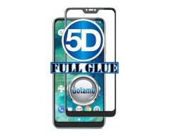 Apsauga ekranui gaubtas grūdintas stiklas Xiaomi Mi A2 Lite, Xiaomi Redmi 6 Pro mobiliesiems telefonams juodos spalvos 5D pilnas padengimas klijais