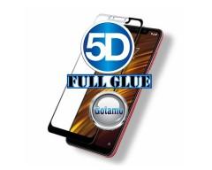 Apsauga ekranui gaubtas grūdintas stiklas Xiaomi Pocophone F1 mobiliesiems telefonams juodos spalvos 5D pilnas padengimas klijais