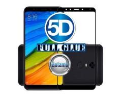 Apsauga ekranui gaubtas grūdintas stiklas Xiaomi Redmi 5 mobiliesiems telefonams juodos spalvos 5D pilnas padengimas klijais