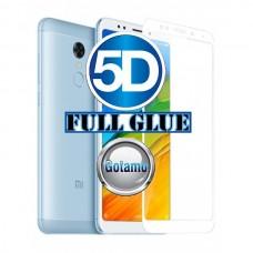 Apsauga ekranui gaubtas grūdintas stiklas Xiaomi Redmi 5 Plus mobiliesiems telefonams baltos spalvos Telšiai | Telšiai | Telšiai