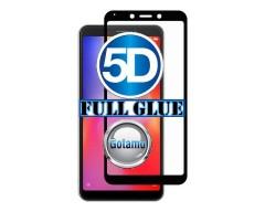Apsauga ekranui gaubtas grūdintas stiklas Xiaomi Redmi 6 6A mobiliesiems telefonams juodos spalvos 5D pilnas padengimas klijais