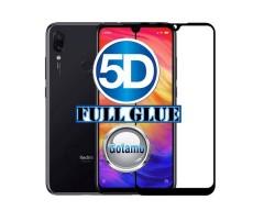 Apsauga ekranui gaubtas grūdintas stiklas Xiaomi Redmi 7 mobiliesiems telefonams juodos spalvos 5D pilnas padengimas klijais