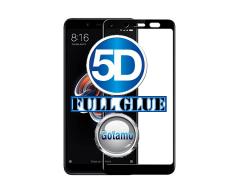 Apsauga ekranui gaubtas grūdintas stiklas Xiaomi Redmi Note 5, Xiaomi Redmi Note 5 Pro mobiliesiems telefonams juodos spalvos 5D pilnas padengimas klijais