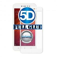 Apsauga ekranui gaubtas grūdintas stiklas Xiaomi Redmi Note 5A mobiliesiems telefonams baltos spalvos Klaipėda | Kaunas | Plungė