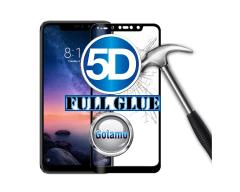 Apsauga ekranui gaubtas grūdintas stiklas Xiaomi Redmi Note 6 Pro mobiliesiems telefonams juodos spalvos 5D pilnas padengimas klijais