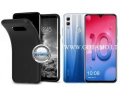 B-matte dėklas nugarėlė Huawei Honor 10 Lite mobiliesiems telefonams juodos spalvos