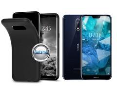 B-matte dėklas nugarėlė Nokia 7.1 mobiliesiems telefonams juodos spalvos