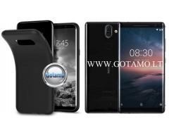 B-matte dėklas nugarėlė Nokia 8 Sirocco mobiliesiems telefonams juodos spalvos
