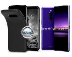 B-matte dėklas nugarėlė Sony Xperia 1 Sony Xperia XZ4 mobiliesiems telefonams juodos spalvos